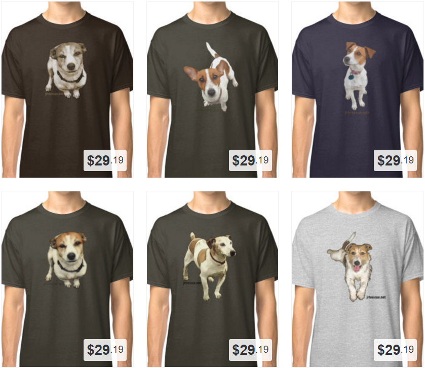 Selection of T-shirts from our Redbubble site